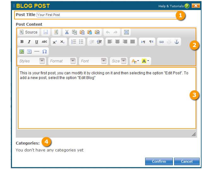 Blog Post Editor