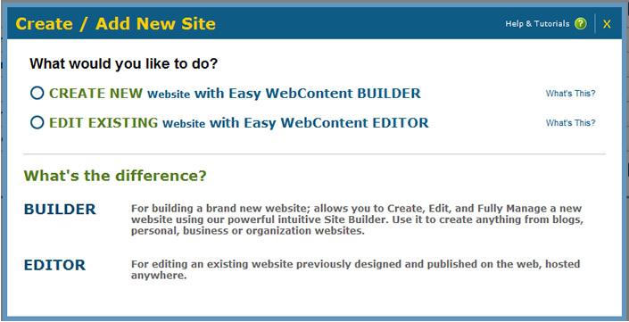 Create Add Site
