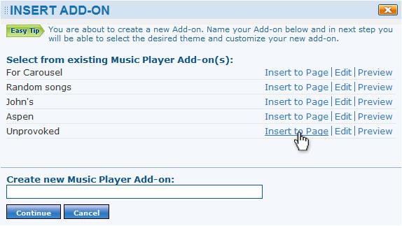 EWC Music Player