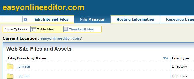 HTML Editor - File Management - File Manager