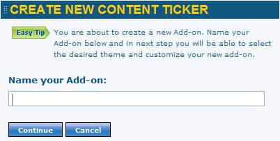 Content Ticker